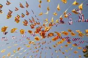 Thai prayer flags photo