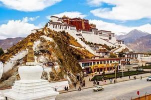 Potala Palace and prayer Pagodas photo