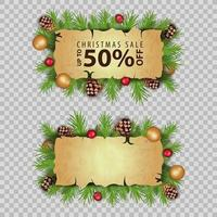 Christmas sale, discount banners