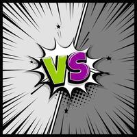 Versus speech box text vector