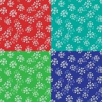 Overlapping snowflake patterns
