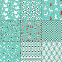 patrones de invierno o navidad azul, rojo, blanco sin costura