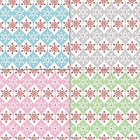 Seamless pastel snowflake patterns