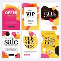 Special offer sale banner set vector