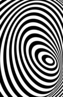 línea 3d blanco negro, ilusión de distorsión