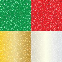 Seamless snowy patterns vector