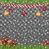 Template of Christmas frame