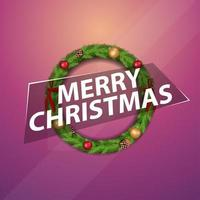 feliz navidad saludo pegatina vector