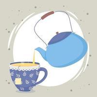 composición de la hora del té