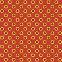 Seamless autumn sunflower pattern