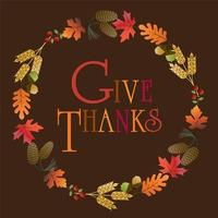 Give thanks gradient leaf wreath