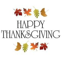 Happy Thanksgiving with falling gradient leaves vector