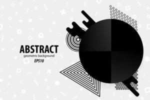 Abstract geometric shapes design in black, white, gray