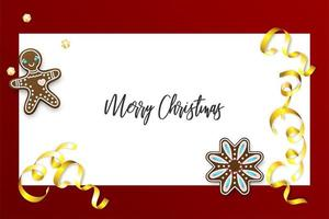 Christmas gingerbread and confetti holiday banner