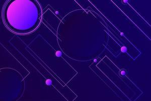 Dark violet neon color dynamic shape hipster landing page vector