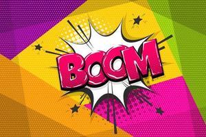 bocadillo de diálogo de boom de estilo cómic pop art vector