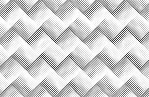 patrón de puntos de semitono en zigzag vector