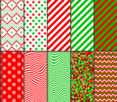 Christmas themed pattern set vector