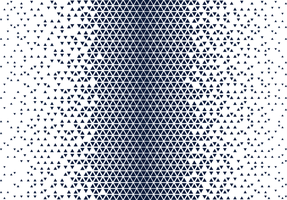 Blue and White Halftone Triangle Pattern vector