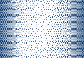 Blue Triangle Halftone Pattern vector