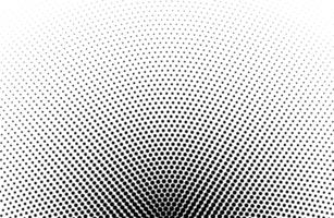 Black round halftone pattern