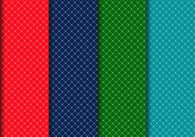 Colorful Weave Line Pattern Set vector