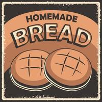 Homemade Bread Retro Vintage Poster