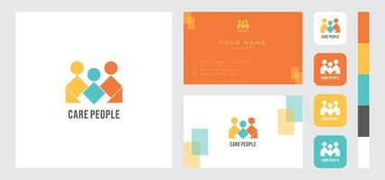 Caring People Business Card Template