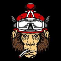 Funky Monkey with Goggles vector
