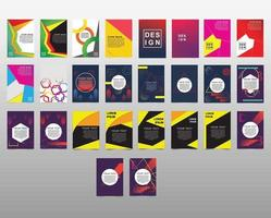 Modern abstract design cover template collection