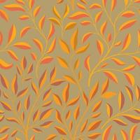 Autumn leaves branch seamless pattern