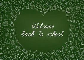 bienvenido de nuevo a la escuela fondo de pantalla de pizarra
