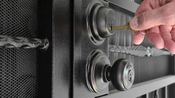 déverrouillage de la porte de sécurité
