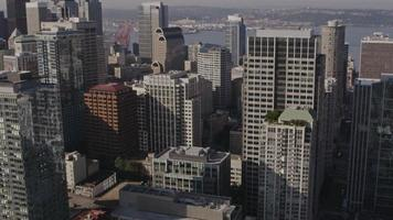 Downtown Seattle Aerial video