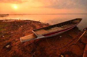 Lake Scenic Landscape at Sunrise photo