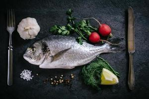 Raw glithead fish photo