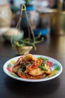 Stir fried fish. Thai foods.
