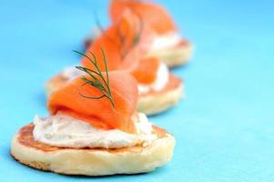 Trio of salmon canapes