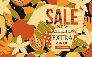 New Collection Sale Banner vector