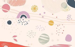 diferentes formas y texturas collage artístico vector