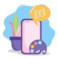 composición del concepto de creatividad y tecnología