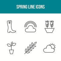 Spring elements set vector