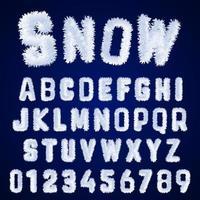 Snow alphabet template vector