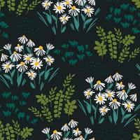 patrón floral abstracto con flores vector