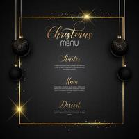 Christmas sparkly menu design vector