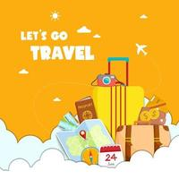 Let's go travel graphic with travel elements