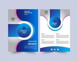 Plantilla de diseño de folleto de diseño de círculo moderno vector
