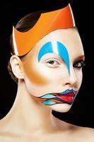 Girl with art makeup photo