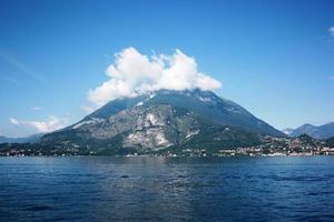 View from Varenna towards Menaggio on Lake Como, Italy