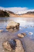 Frozen Blea Tarn portrait photo